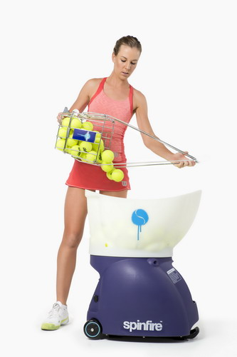Pouring Balls Into Spinfire Pro 2 Tennis Ball Machine